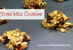 Trail Mix Cookies, another favorite! bananas, oats, chia seeds, chocolate chips