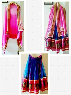 Blue net and pure brocade silk border lehenga. Satin georgette with pink embroidery border and tassels Dupatta.  Can be customized in any color. To book your order/any query, contact us: call/whatsapp on +91 9833617147.  Like us? Follow us! https://m.facebook.com/VastranDecorbySoumiyaKhanna  #Fashion #fashionista #fashionblogger #bollywoodfashion #indian #bollywood #stylediva #diva #pretty #boutique #designer #clothing #clothingline #clothingbrand #womenswear #womensbrand #womensfashion