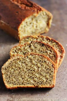 Easy Yummy Cookery: Healthy Vegan Spiced Zucchini Banana Bread