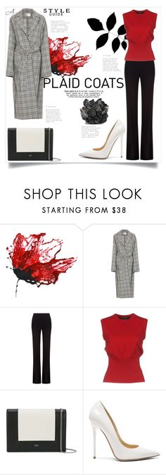 """Plaid"" by andragabriela on Polyvore featuring Alexander McQueen, Dolce&Gabbana, CÉLINE, Jimmy Choo and McCoy Design"