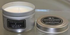 MANLY INDULGENCE 5 O'CLOCK SHADOW CANDLE 1WICK 3OZ TIN NEW SOY BLEND HAND POURED #MANLYINDULGENCE