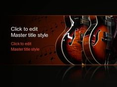 Free Music Guitar PPT Template