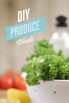 DIY Natural Produce Wash - Live Simply