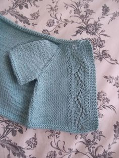 Vine Lace baby Cardigan, free pattern by j'adore knitting..