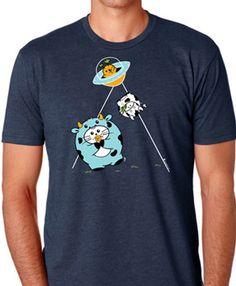Beam Me Up Men's T-shirt by Fat Rabbit Farm