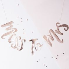 This gorgeous Rose Gold Miss to Mrs bunting will impress the Bride to be as she parties away for one last time making memories with all her hens The
