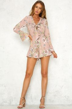 Look Out For Love Playsuit Mocha