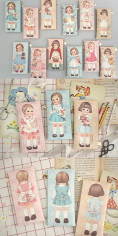 Carry your pens and pencils in the cutest vintage-style paper doll pen case! There are so many designs. Collect them all!