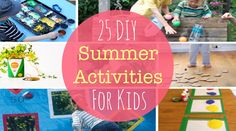 25 DIY Summer Activities For Kids | Felicity Huffman's What The Flicka? #ideas #crafts #games