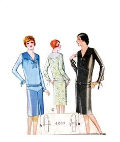 Vintage 1920s Dress Pattern McCalls 4917 by RebeccasVintageSalon, $54.00