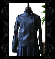Gabardine Neck Scarf jacket