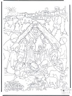 Lots of great Christian Christmas printable coloring pages and ...