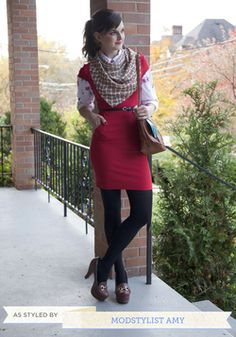What a Daydream Scarf in Fences, #ModCloth