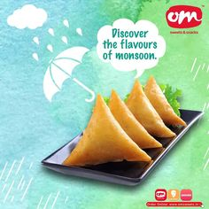 Monsoon is all about the crunch and munch of exotic food. Discover your flavours of monsoon with om sweets ☔️ Order online or drop in to relish! . . . #omsweets #omsweetsandsnacks #tastyfood #monsoondiaries #rainyday #monsoonsnacks Om Sweets, Exotic Food, Monsoon, Discover Yourself, Pineapple, Yummy Food, Drop, Snacks, Fruit