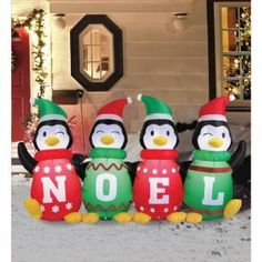 Airflowz 6 ft. Inflatable Sweater Penguins 56871 at The Home Depot - Mobile
