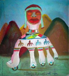 Mano Coya, acrylic on canvas. Pintura en venta de la Serie Originaria del pintor…