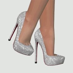 DallasGirl - Louboutin Daffodile Strass - New Mesh The sparkles. The Sims 4 Pc, Sims 4 Mm, Sims 4 Cc Shoes, Best Sims, Sims 4 Dresses, Sparkle Shoes, Sims 4 Cc Finds, Sims 4 Clothing, Sims Mods
