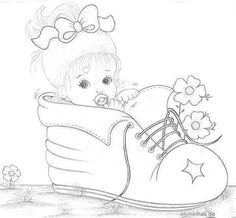 A imagem pode conter: desenho Emoji Coloring Pages, Baby Coloring Pages, Coloring Books, Cartoon Drawings, Cute Drawings, Painting Templates, Machine Embroidery Patterns, Embroidery Ideas, Baby Drawing