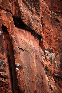 Climbers And Platform, Zion National Park by Bachspics