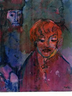 Emil Nolde - Anklage (The Indictment) (1941-46) ~Via alain jeanjean