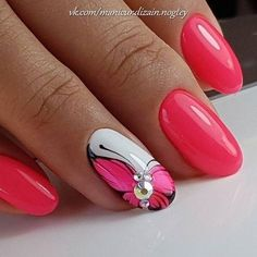 Idee per manicure rosse Fancy Nails, Pink Nails, Cute Nails, Pretty Nails, Butterfly Nail Art, Pink Butterfly, Nagellack Design, Cute Acrylic Nails, Flower Nails