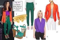 love color blocking with silks