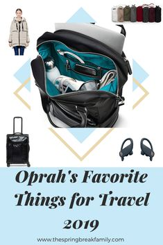 Oprah's Favorite Things of 2019 have officially been listed and it's everything we hoped for! Here are the best items for any traveler on your holiday gift list! Best Luggage, Carry On Luggage, Toddler Travel Bed, Underseat Carry On, Travel Items, Travel Gifts, Best Travel Backpack, Best Travel Accessories, Traveling With Baby