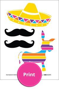 Printable Cinco de Mayo photo booth