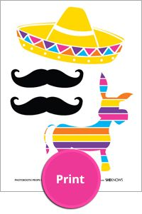 Printable Cinco de Mayo photo booth
