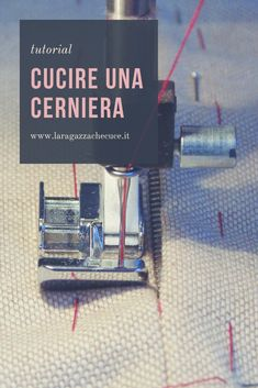 tutorial - come cucire una cerniera #cucireunacerniera #tutorial #cucitofacile #cucitoitaliano #cerniera #cucitocreativo #cucito Sewing Hacks, Sewing Tutorials, Diy And Crafts, Creations, Notes, Crochet, Handmade, Refashion, Singer