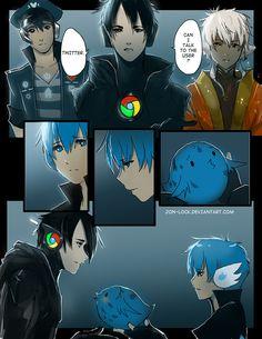 Chrome's Little Bird 11 by Jon-Lock on DeviantArt Cartoon As Anime, Anime Comics, Manga Anime, Anime Art, Site Anime, The Awkward Yeti, Anime Version, Another Anime, Fan Art