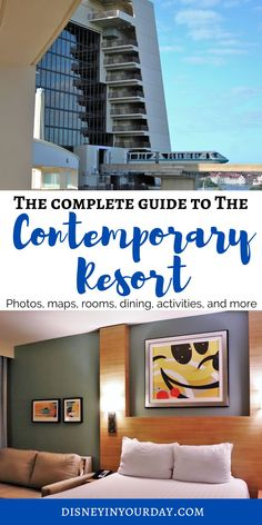 Disney's Contemporary resort - the complete guide - thinking about staying at the Contemporary in Disney World? You'll want to read this first, as it has everything you need to know about rooms, pricing, dining options, pools and activities, location, transportation, and more! Disney Resorts List, Disney Resort Hotels, Disney World Hotels, Disney Vacations, Walt Disney World, Disney Travel, Disney Parks, Disney World Tips And Tricks, Disney Tips