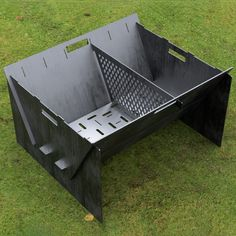 Custom Order - Fire Pit Collapsible Plancha Grill and Grill Indirect Cooking Ribs CNC DXF Files Fire Pit Grill, Fire Pit Backyard, Backyard Bbq, Concrete Lamp, Concrete Design, Metal Sheet Design, Plancha Grill, Outside Fire Pits, Fire Pit Party