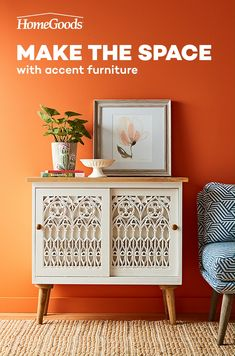 Looking for accent furniture ideas? Head to HomeGoods! Find the perfect furniture additions for your living room looks and more for so much less. Diy Furniture Videos, Diy Furniture Easy, Find Furniture, Accent Furniture, Furniture Plans, Home Improvement Companies, Home Improvement Loans, Fall Home Decor, Diy Home Decor