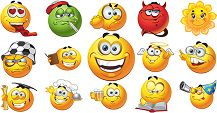 This page is filled with a wide array of smileys that are sure to make others smile too.