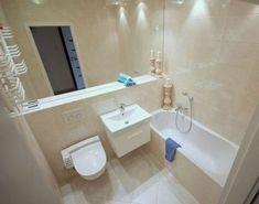 beige tiles with pattern Bathroom Vanity Units, Small Bathroom, Bathrooms, Plumbing Problems, Interior Design Inspiration, Tiles, Sweet Home, Sink, Bathtub