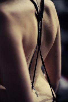 back spine tattoo