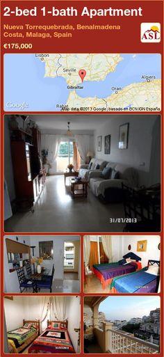 2-bed 1-bath Apartment in Nueva Torrequebrada, Benalmadena Costa, Malaga, Spain ►€175,000 #PropertyForSaleInSpain
