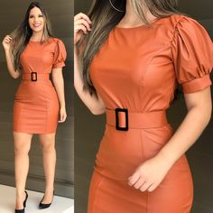 plus size outfits for work womens clothes Classy Dress, Classy Outfits, Chic Outfits, Dress Outfits, Fashion Outfits, Fashion Models, Short Gowns, Latest African Fashion Dresses, Leather Dresses