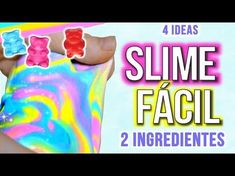 Como hacer SLIME ESPONJOSO y CRUNCHY SLIME (sin borax, almidon) - FLUFFY SLIME | Pasteles y Pinceles - YouTube