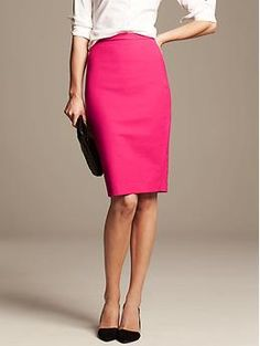 If only they didn't sell out of the tall sizes immediately! Love this color. Roland Mouret Collection High-Waisted Pencil Skirt