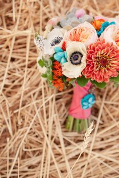 colorful and fun vintage wedding decor shoot from Fancy Fray | via junebugweddings.com