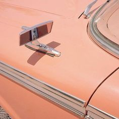 peach-color car