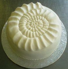 Nautilus cake. Ok, I'm not crazy @ nautilus shells, but I <3 this!