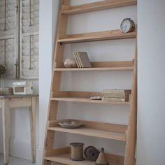 Solid Oak Shelf Ladder   Design Vintage   Oak Shelving