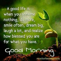 Lovely Good Morning With Life Quotes
