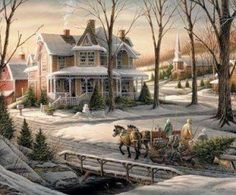 Nostalgic Christmas Scene