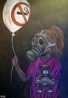 Smoke Drawing, Smoke Painting, Black Art Painting, Smoke Art, Anti Smoking Poster, School Murals, Poster Drawing, Girl Posters, Social Art