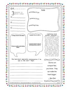 fill in the blank journal pages - printable - really cute