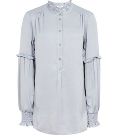 REISS - COMO RUFFLE-DETAIL BLOUSE